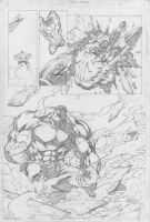 Fred Benes-Hulk Sample Page 3 by comiconart