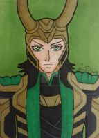 God of Mischief ACEO card by LadyNin-Chan