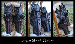 Dragon Slayer's Bastion: Greaves by Epic-Leather