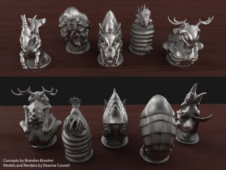 Creature Totems: Set 1 (Other Views) by TempestWorks