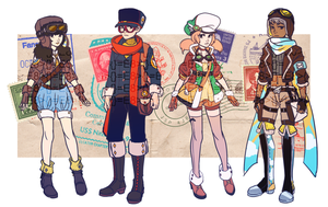 ADOPTABLE SET 6: MARVELOUS MAIL CARRIERS [CLOSED] by CARPFISH