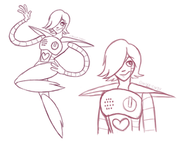 Mettaton Sketches by Simina-Cindy