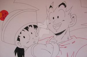 ''That's my son!'' Son Goku and Son Gohan by SakakiTheMastermind