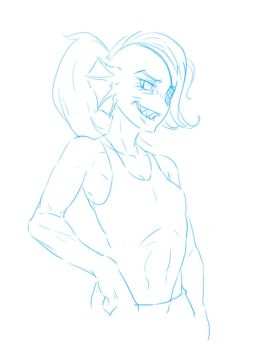 Doodle : Undyne by mrs1989