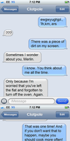 Accidental Texts [1] by DustAddsCharacter