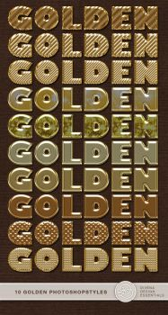 Golden Photoshop Styles by Divenadesign