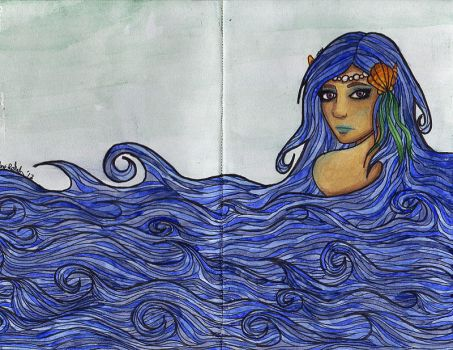 Ocean Girl Journal by kittymacabre