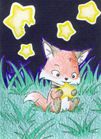 A Star for the Hungry Fox by jeazard