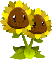 Twin Sunflower by 0ColorPaint0