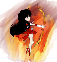 Chibi Sailor Mars by EternalGraveDancer