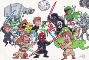Ultimate Star Wars Battle by johnnyism