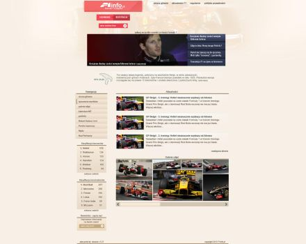 Layout portalu F1Info by Dziuniart