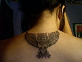 Owl Tattoo by realhorrorshoww