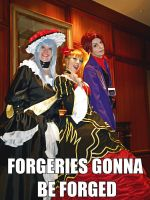Umineko Cosplay: FORGERIES GONNA BE FORGED by Redustrial-Ruin