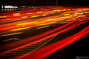 Lights of the night traffic by Yupa
