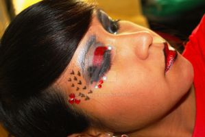 black and red makeup by MiSA-MiiSA