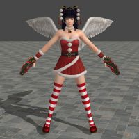 DOA5U Nyotengu Santa's Helper costume by zareef