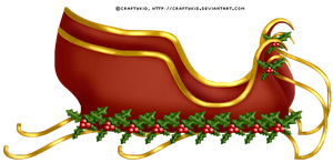Holly Sleigh - PNG FILE by Craftykid