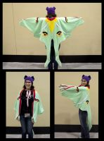 Luna Moth Wings Cape by cutekick