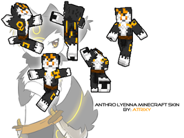 Anthro Lyenna Minecraft Skin by Atrixy