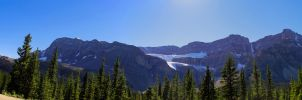 Glacier Providencial Park Pano by KRHPhotography