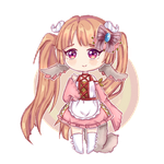 Crayon Chibi Commission | Yuki Amiella by xwanwan
