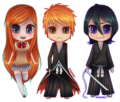 Bleach Chibi Set [1/2] by RingaButt