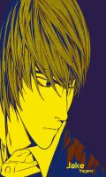 Yagami Light gradient colored by 13deadman