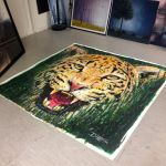 Jaguar Large Painting Got a new home by AtomiccircuS