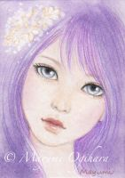 Violet (ACEO) - sketch by MayumiOgihara