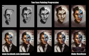 Two-Face Painting Progression by pinkhavok