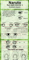 Eye tutorial naruto line style by Izumii89