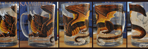 Painted pint: Draconniss by Eleweth