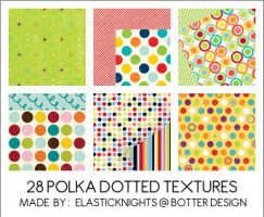 28 Polka Dotted Textures by arapax