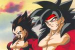 Bardock and King Vegeta SSJ4 by GalianChaos21