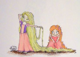 Rapunzel and Giselle by free-bubbles