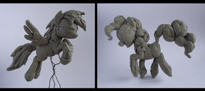 sculpting rough sketches by Graffegruam