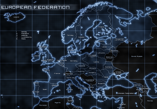 Map of the European Federation by GTD-Orion