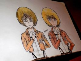 Armin anime and manga style by Anna-Knightley