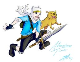 Finn And Jake  by rice-claire