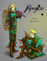 The Magic Flute: Papageno by squonkhunter