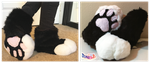 Black and White Fursuit Sockpaws by TECHNlCOLOUR