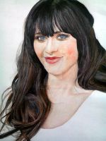 Zooey Drawing by ghosthorror