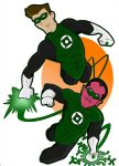 Hal and Sinestro by HeroOfZeros