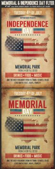Memorial Independence Day Flyer Template by Hotpindesigns