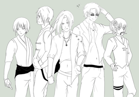"Hetalia: Asian ""BOY"" Band by Hei-Chan"