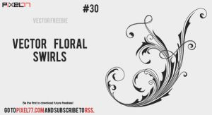Free vector floral swirls by pixel77-freebies