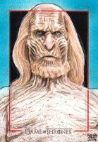 GAME OF THRONES sketch card - WHITE WALKERS by JASONS21