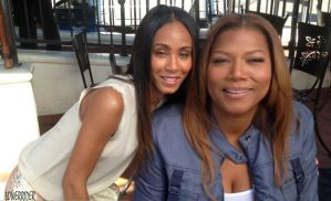 Jada Pinkett and Queen Latifah faces by lowerrider