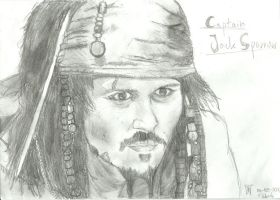 Captain Jack Sparrow - Pirates of the Caribbean by madfadmaker